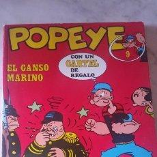 Cómics: COMIC DE POPEYE NUMERO 9 : EL GANSO MARINO . AÑOS 70. BURU LAN . JOYA DE COLECCIÓN. Lote 175020650