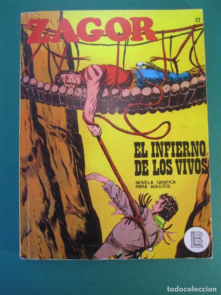ZAGOR (1971, BURU LAN) 27 · 1-VII-1972 · EL INFIERNO DE LOS VIVOS (Tebeos y Comics - Buru-Lan - Zagor)