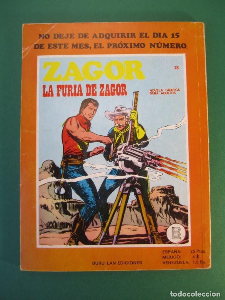 Cómics: ZAGOR (1971, BURU LAN) 27 · 1-VII-1972 · EL INFIERNO DE LOS VIVOS - Foto 2 - 175076197