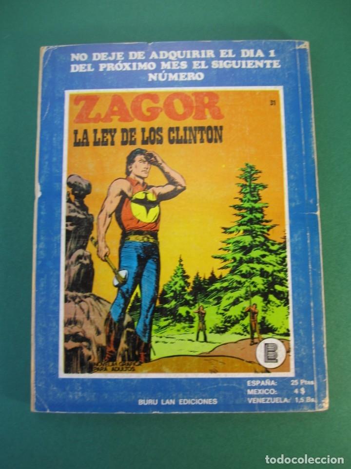 Cómics: ZAGOR (1971, BURU LAN) 30 · 15-VIII-1972 · EL BUITRE - Foto 2 - 230888420