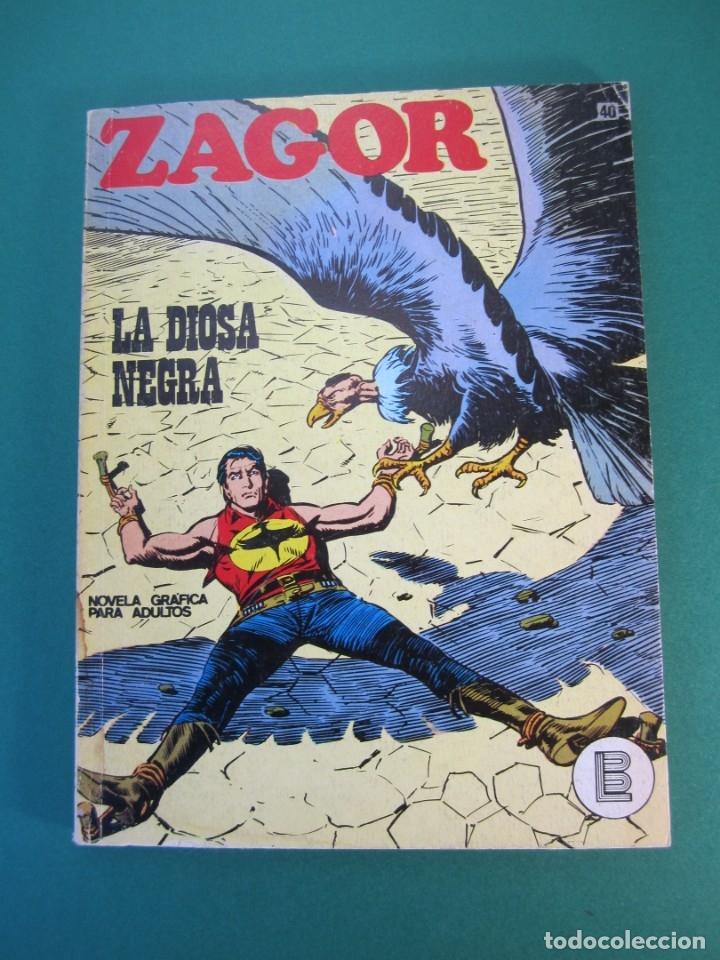 ZAGOR (1971, BURU LAN) 40 · 15-I-1973 · LA DIOSA NEGRA (Tebeos y Comics - Buru-Lan - Zagor)