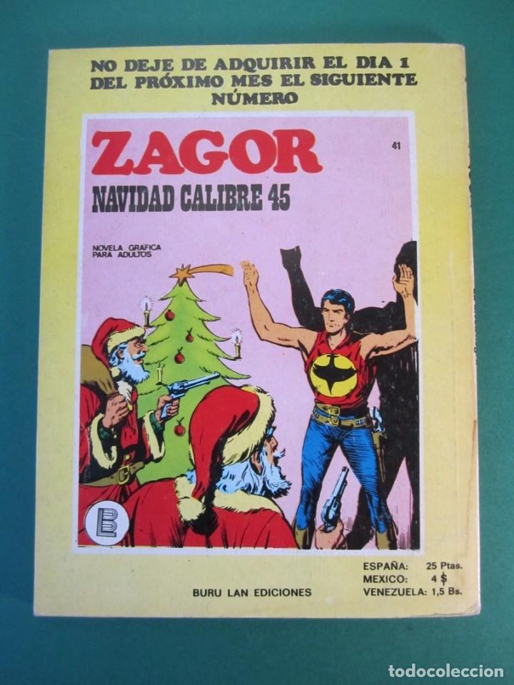 Cómics: ZAGOR (1971, BURU LAN) 40 · 15-I-1973 · LA DIOSA NEGRA - Foto 2 - 175076277