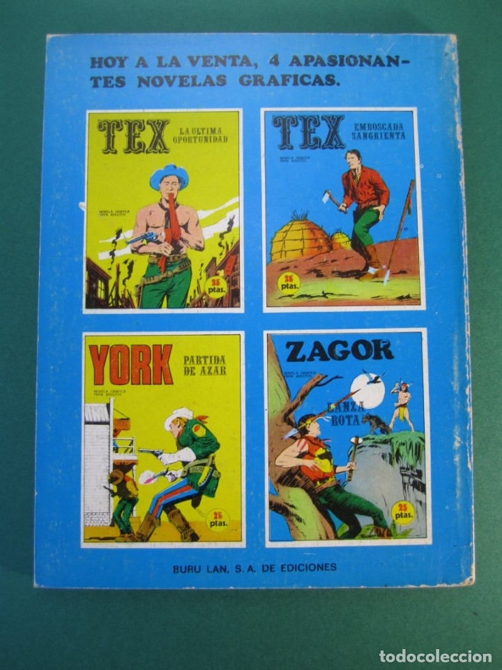 Cómics: ZAGOR (1971, BURU LAN) 6 · 15-VIII-1971 · LANZA ROTA - Foto 2 - 175076294