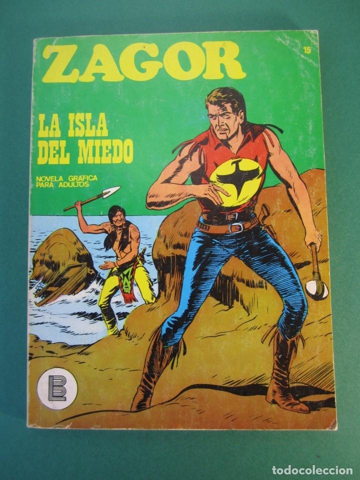 ZAGOR (1971, BURU LAN) 15 · 1-I-1972 · LA ISLA DEL MIEDO (Tebeos y Comics - Buru-Lan - Zagor)