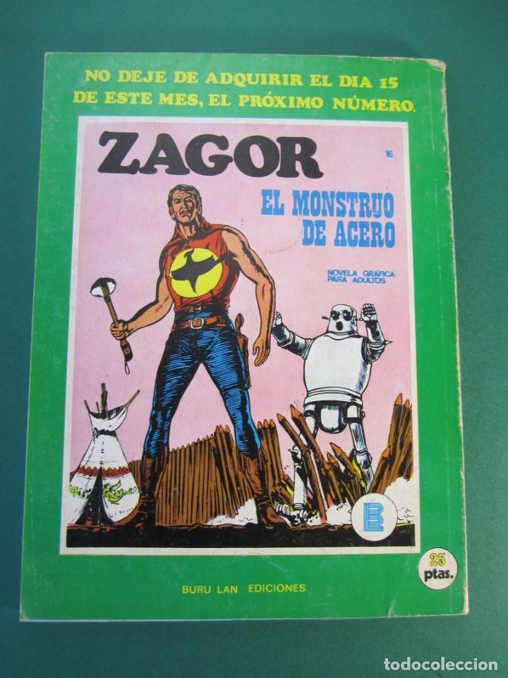 Cómics: ZAGOR (1971, BURU LAN) 15 · 1-I-1972 · LA ISLA DEL MIEDO - Foto 2 - 175076322