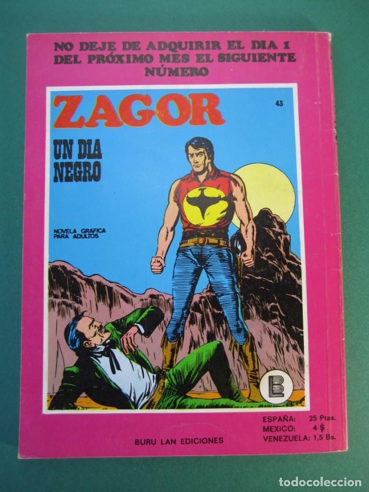 Cómics: ZAGOR (1971, BURU LAN) 42 · 15-II-1973 · LA CASA DEL TERROR - Foto 2 - 175076474
