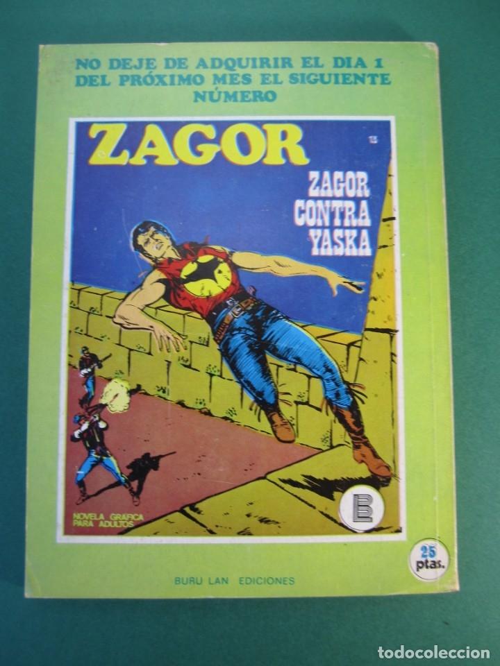Cómics: ZAGOR (1971, BURU LAN) 12 · 15-XI-1971 · LA LEY ROJA - Foto 2 - 175076484