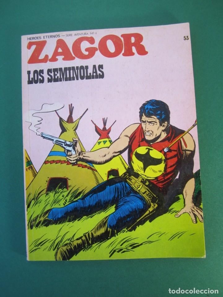 ZAGOR (1971, BURU LAN) 53 · 1-VIII-1973 · LOS SEMINOLAS (Tebeos y Comics - Buru-Lan - Zagor)