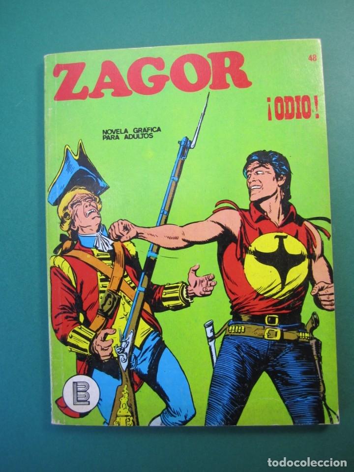 ZAGOR (1971, BURU LAN) 48 · 15-V-1973 · ¡ODIO! (Tebeos y Comics - Buru-Lan - Zagor)