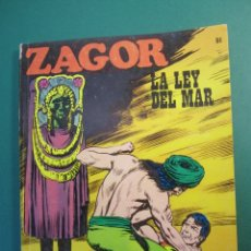 Comics : ZAGOR (1971, BURU LAN) 51 · 1-VII-1973 · LA LEY DEL MAR. Lote 175076655