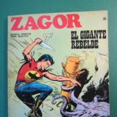 Cómics: ZAGOR (1971, BURU LAN) 35 · 1-XI-1972 · EL GIGANTE REBELDE. Lote 175076694