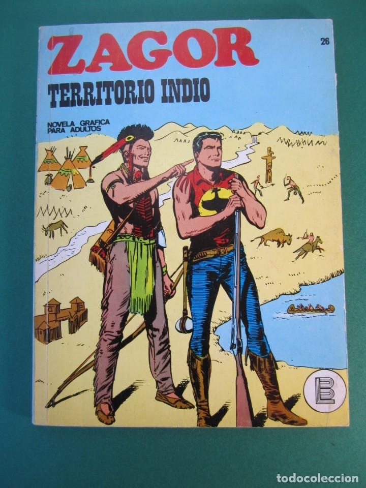 ZAGOR (1971, BURU LAN) 26 · 15-VI-1972 · TERRITORIO INDIO (Tebeos y Comics - Buru-Lan - Zagor)