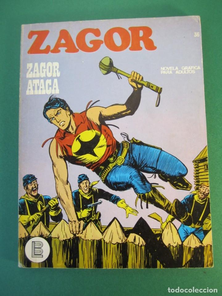 ZAGOR (1971, BURU LAN) 36 · 15-XI-1972 · ZAGOR ATACA (Tebeos y Comics - Buru-Lan - Zagor)