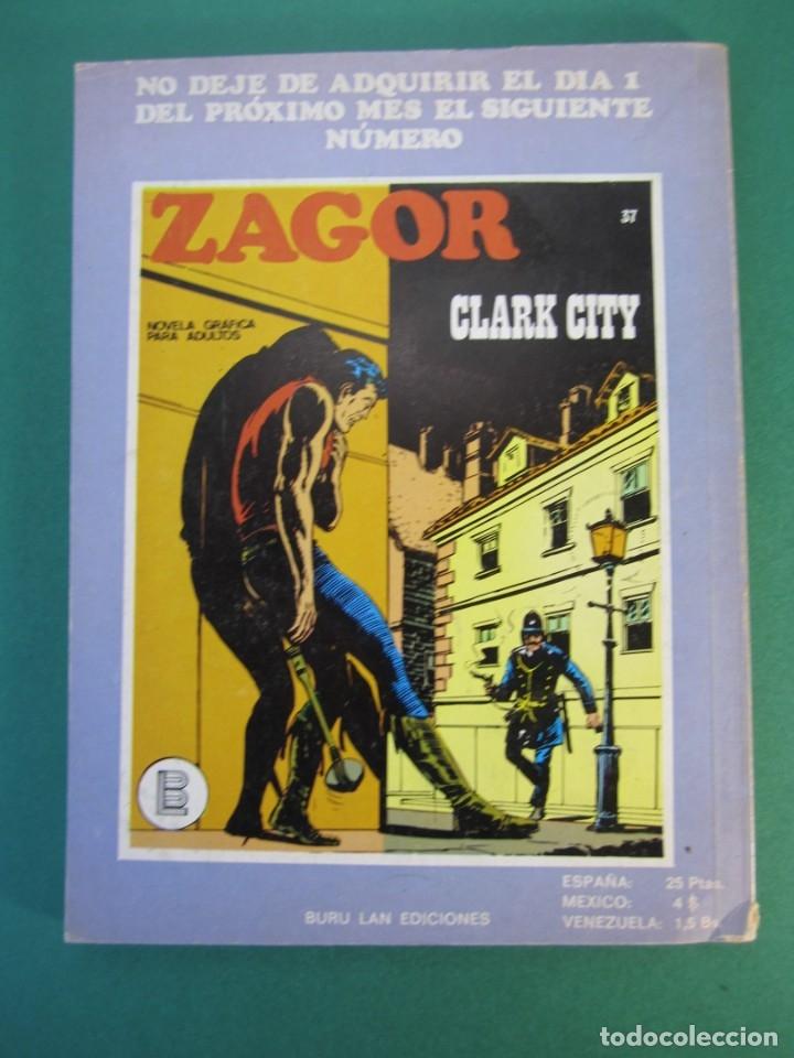 Cómics: ZAGOR (1971, BURU LAN) 36 · 15-XI-1972 · ZAGOR ATACA - Foto 2 - 175076874