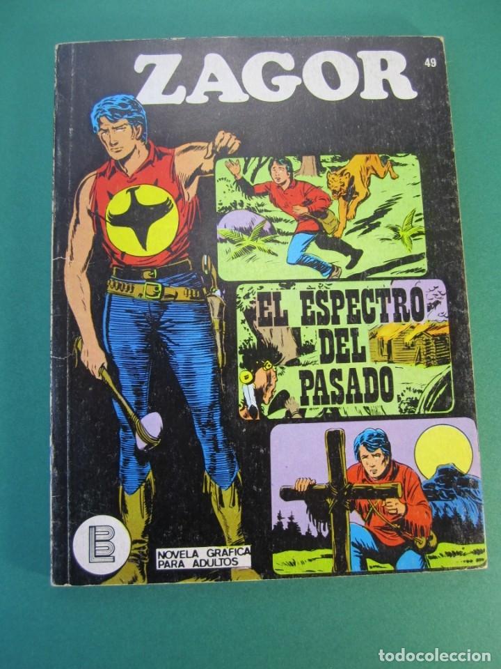 ZAGOR (1971, BURU LAN) 49 · 1-VI-1973 · EL ESPECTRO DEL PASADO (Tebeos y Comics - Buru-Lan - Zagor)