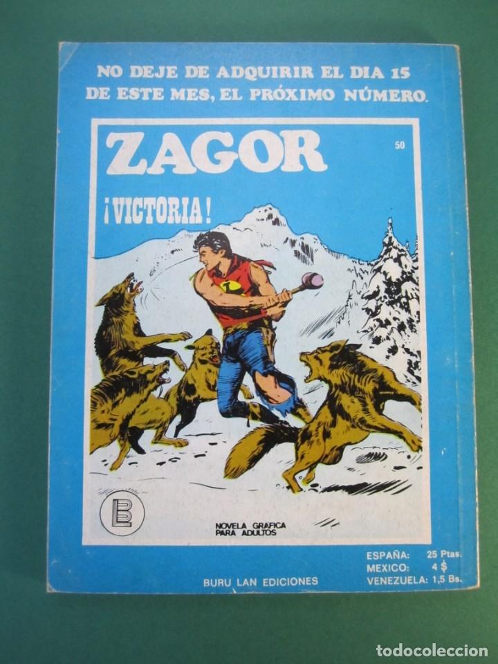 Cómics: ZAGOR (1971, BURU LAN) 49 · 1-VI-1973 · EL ESPECTRO DEL PASADO - Foto 2 - 175077028