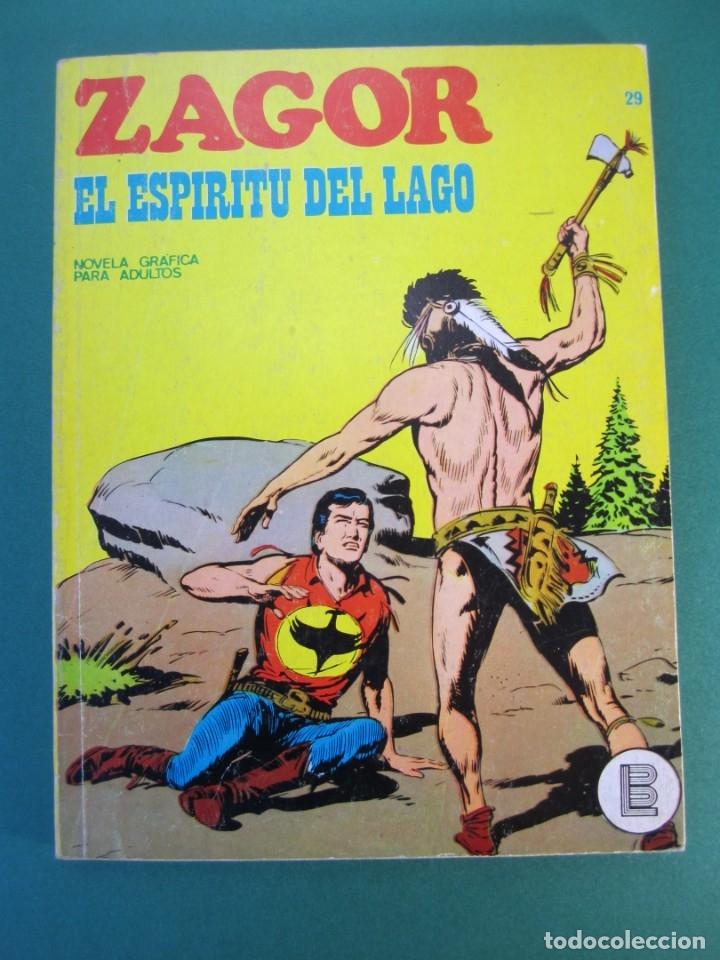 ZAGOR (1971, BURU LAN) 29 · 1-VIII-1972 · EL ESPIRITU DEL LAGO (Tebeos y Comics - Buru-Lan - Zagor)