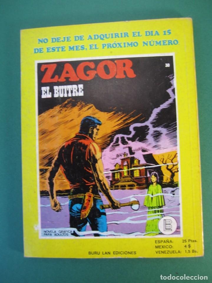 Cómics: ZAGOR (1971, BURU LAN) 29 · 1-VIII-1972 · EL ESPIRITU DEL LAGO - Foto 2 - 175077045