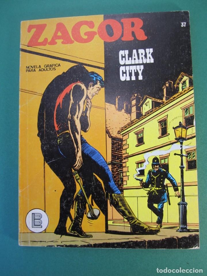 ZAGOR (1971, BURU LAN) 37 · 1-XII-1972 · CLARK CITY (Tebeos y Comics - Buru-Lan - Zagor)
