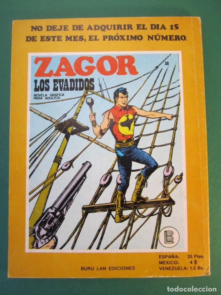 Cómics: ZAGOR (1971, BURU LAN) 37 · 1-XII-1972 · CLARK CITY - Foto 2 - 175077227