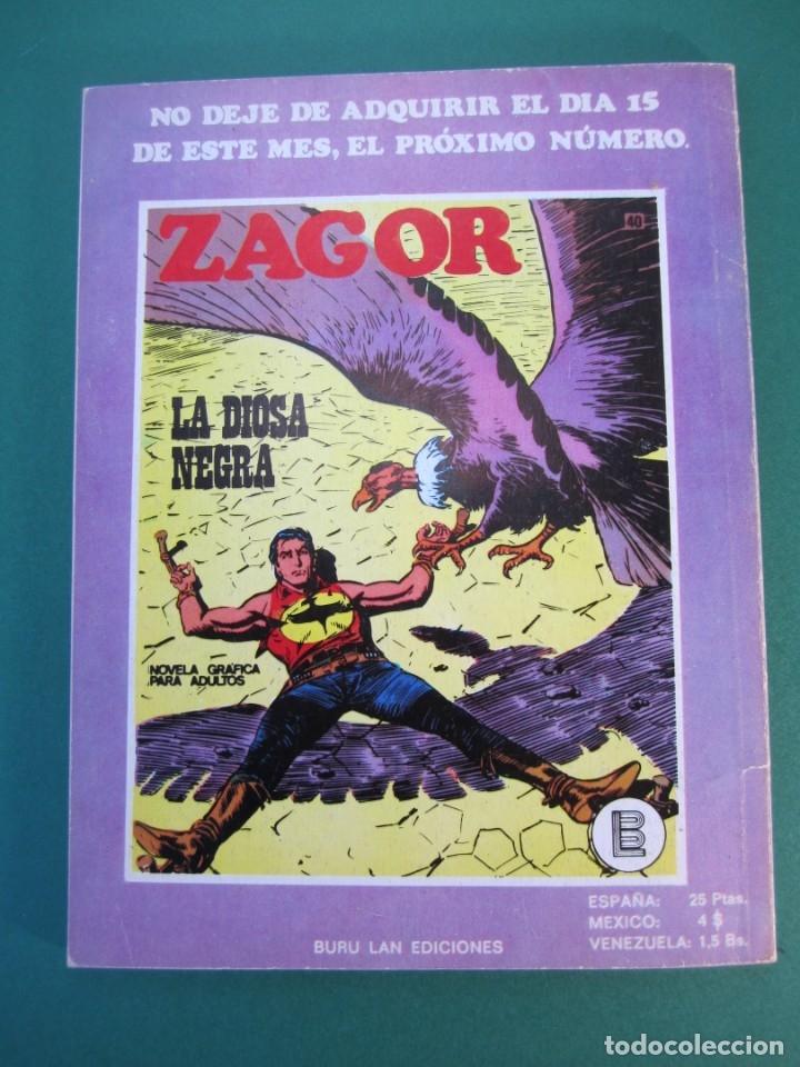 Cómics: ZAGOR (1971, BURU LAN) 39 · 1-I-1973 · MUERTE SOBRE EL RÍO - Foto 2 - 175077237