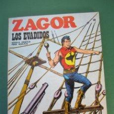 Cómics: ZAGOR (1971, BURU LAN) 38 · 15-XII-1972 · LOS EVADIDOS. Lote 175077265