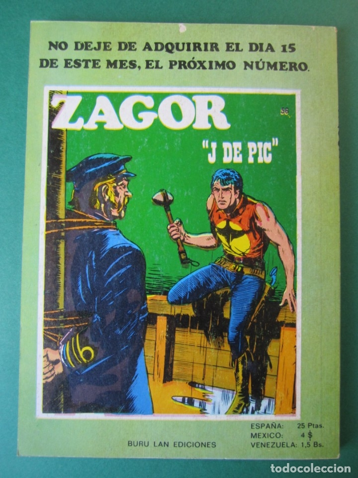 Cómics: ZAGOR (1971, BURU LAN) 55 · 1-IX-1973 · SATKO - Foto 2 - 175077397