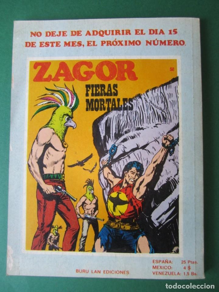 Cómics: ZAGOR (1971, BURU LAN) 57 · 1-X-1973 · SOBRE EL CAMINO DE MARYVILLE - Foto 2 - 175085514