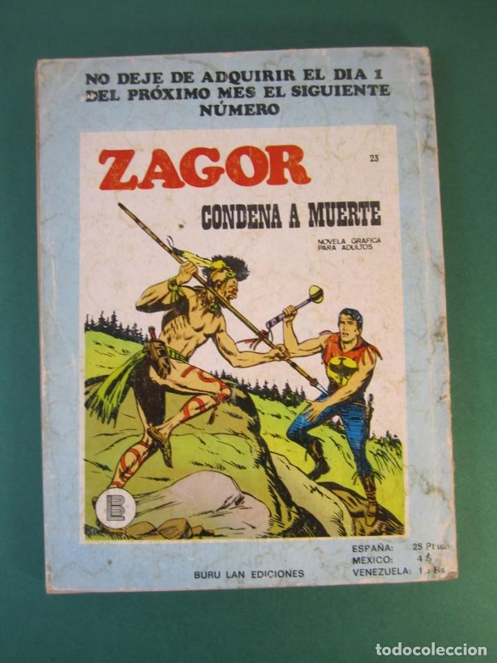 Cómics: ZAGOR (1971, BURU LAN) 22 · 15-IV-1972 · LA CAMPANA SOBRE EL RIO - Foto 2 - 175338295