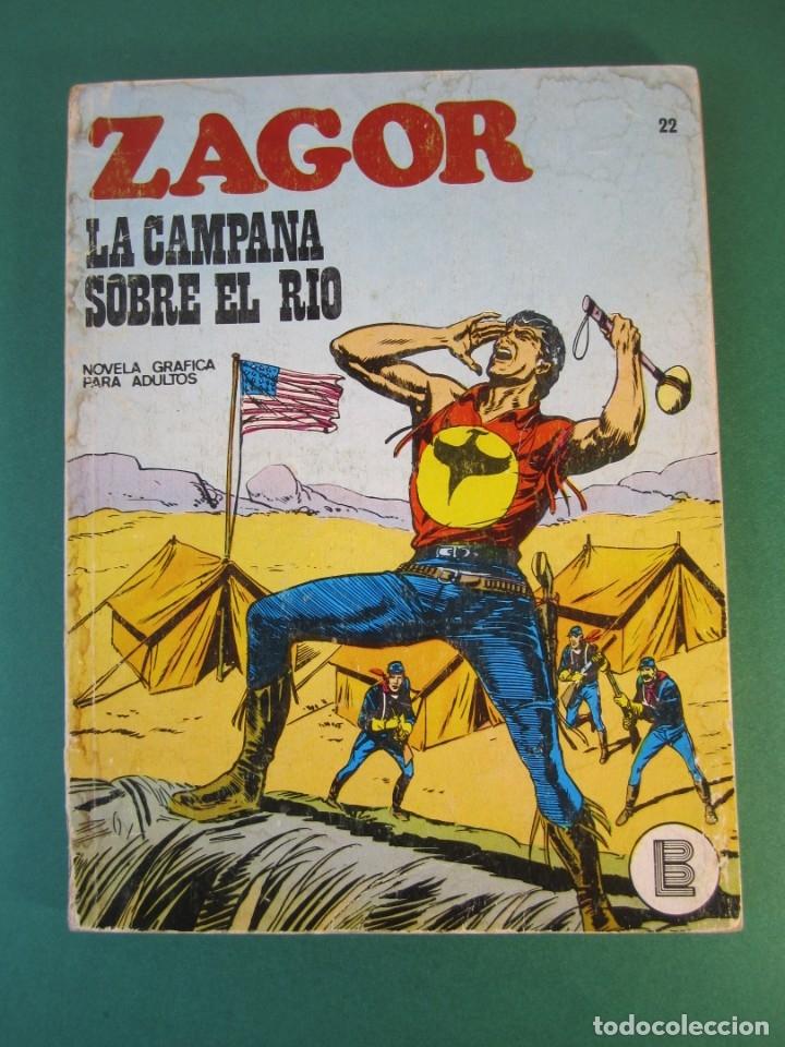 ZAGOR (1971, BURU LAN) 22 · 15-IV-1972 · LA CAMPANA SOBRE EL RIO (Tebeos y Comics - Buru-Lan - Zagor)
