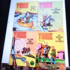 Cómics: SARGENTO YORK NºS 1, 2, 3 Y 4. BURU LAN 1971. COMO NUEVOS.. Lote 175984182