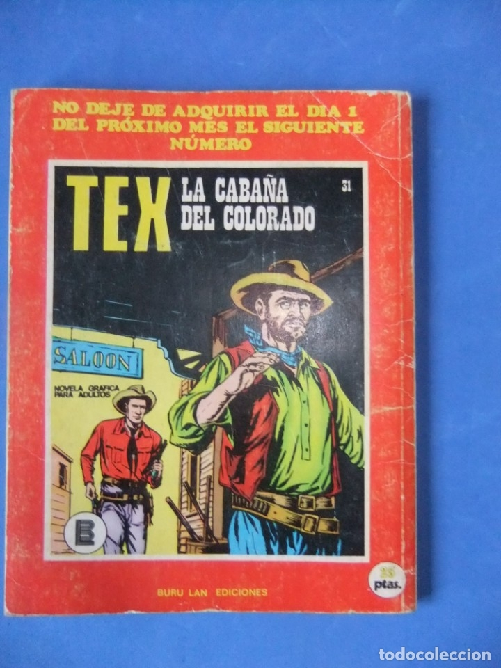 Cómics: TEX Nº 30 LA MESETA DE LOS ESQUELETOS BURULAN - Foto 2 - 176204902