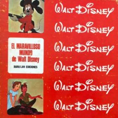 Cómics: EL MARAVILLOSO MUNDO DE WALT DISNEY. 4 TOMOS . BURU LAN EDICIONES. VITORIA 1967. COMPLETA. Lote 176216805