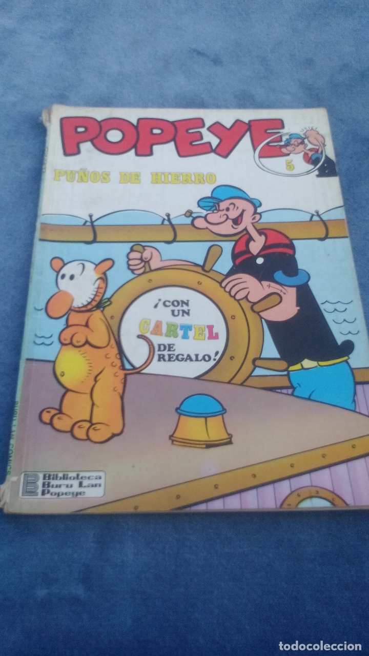 POPEYE - PUÑOS DE HIERRO - NUMERO 5 - EDITORIAL BURU LAN AÑO 1970 (Tebeos y Comics - Buru-Lan - Popeye)
