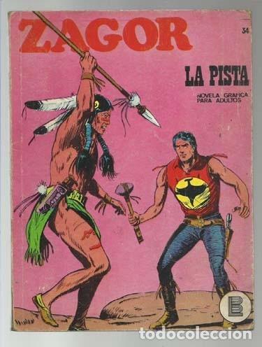 ZAGOR 34: LA PISTA, 1972, BURU LAN, BUEN ESTADO (Tebeos y Comics - Buru-Lan - Zagor)