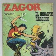 Cómics: ZAGOR 35: EL GIGANTE REBELDE, 1972, BURU LAN, BUEN ESTADO. Lote 176961139