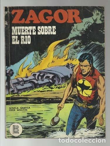 ZAGOR 39: MUERTE SOBRE EL RIO, 1972, BURU LAN, BUEN ESTADO (Tebeos y Comics - Buru-Lan - Zagor)