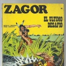 Cómics: ZAGOR 46: EL ÚLTIMO DESAFIO, 1972, BURU LAN, BUEN ESTADO. Lote 176961764