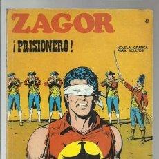 Cómics: ZAGOR 47: PRISIONERO, 1972, BURU LAN, BUEN ESTADO. Lote 176961894