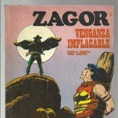 Cómics: ZAGOR 8: VENGANZA IMPLACABLE, 1971, BURU LAN, BUEN ESTADO. Lote 176962017
