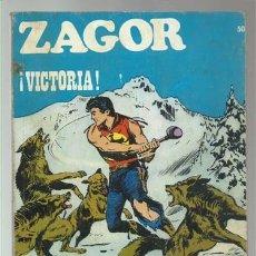 Cómics: ZAGOR 50: VICTORIA, 1972, BURU LAN, BUEN ESTADO. Lote 176962269