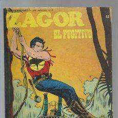 Cómics: ZAGOR 63: EL FUGITIVO, 1974, BURU LAN, MUY BUEN ESTADO. Lote 176962443