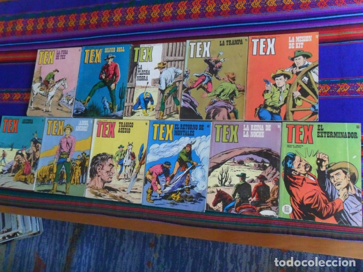 TEX NºS 66 68 73 78 82. BURU LAN 1972. 25 PTS. (Tebeos y Comics - Buru-Lan - Tex)