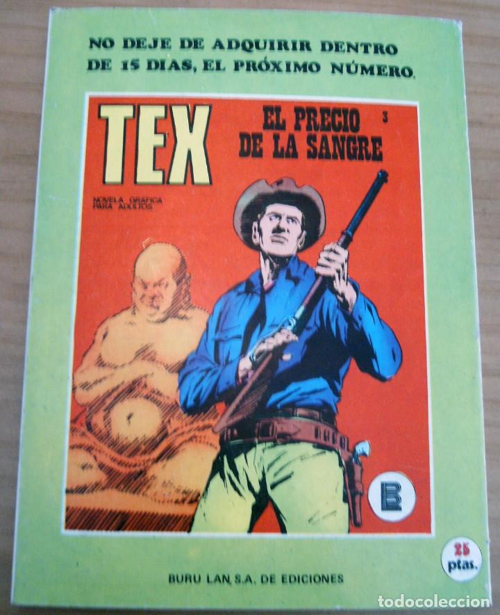Cómics: TEX - NÚMERO 2: EL SICARIO - AÑO 1971 - BUEN ESTADO - Foto 9 - 178011502