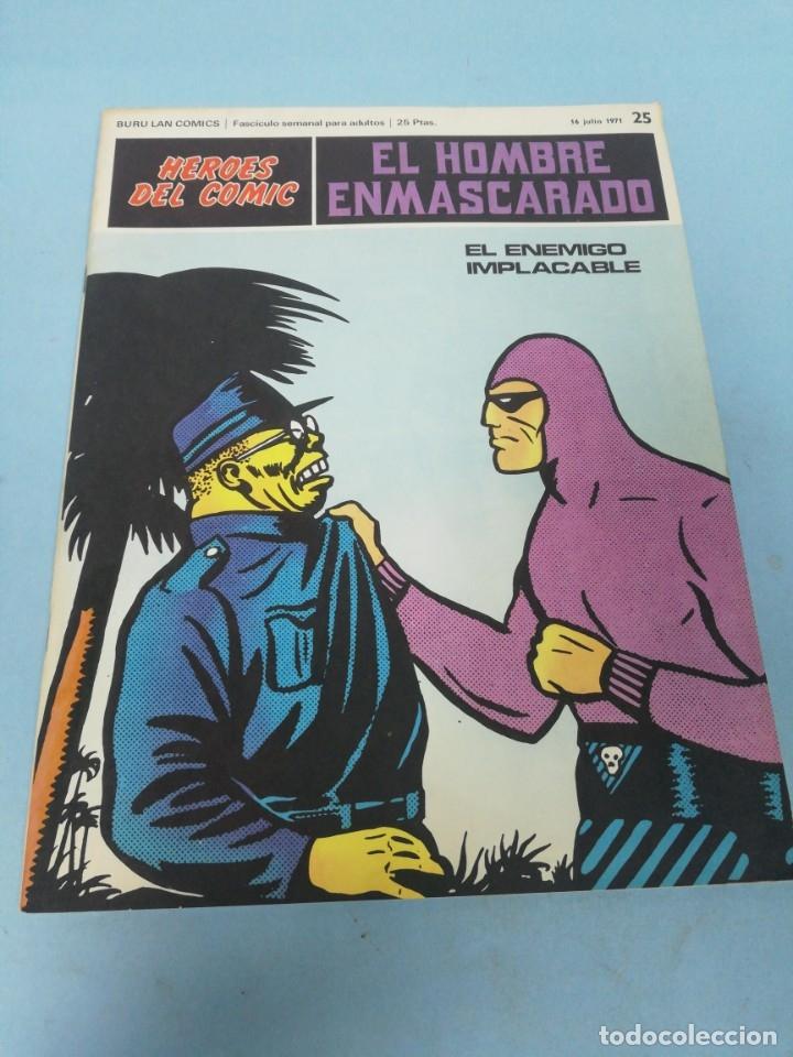 HÉROES DEL CÓMIC. EL HOMBRE ENMASCARADO NÚMERO 25. 1971. (Tebeos y Comics - Buru-Lan - Hombre Enmascarado)