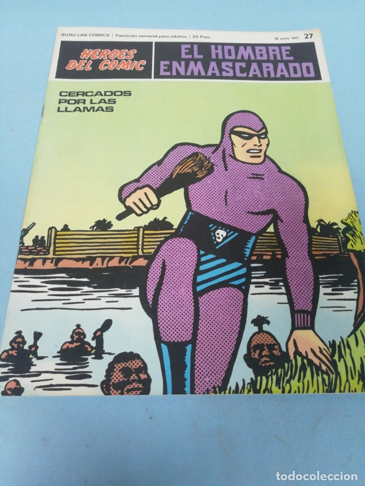 HÉROES DEL CÓMIC. EL HOMBRE ENMASCARADO NÚMERO 27. 1971. (Tebeos y Comics - Buru-Lan - Hombre Enmascarado)