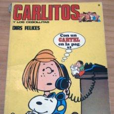 Cómics: CARLITOS Y LOS CEBOLLITAS - NÚMERO 14: DÍAS FELICES - CONTIENE CARTEL - AÑO 1972. Lote 178189727