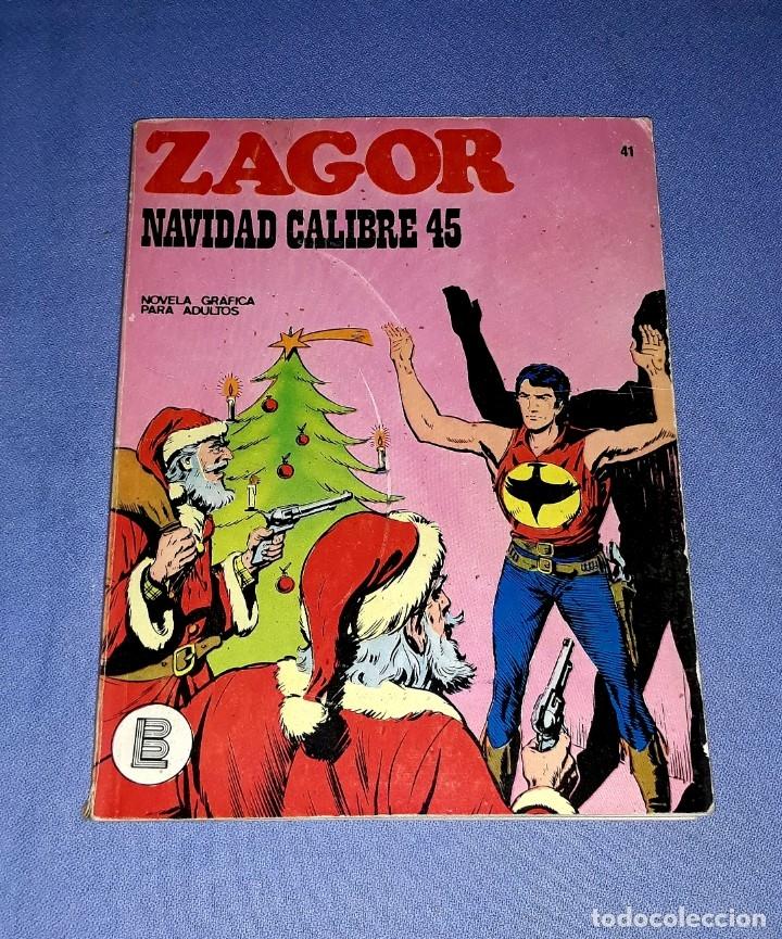ZAGOR Nº 41 NAVIDAD CALIBRE 45 EN MUY BUEN ESTADO BURULAN ORIGINAL AÑO 1972 VER FOTOS Y DESCRIPCIO (Tebeos y Comics - Buru-Lan - Zagor)