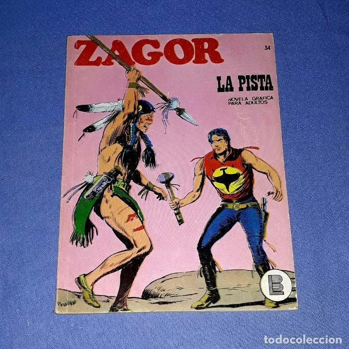 ZAGOR Nº 34 LA PISTA EN MUY BUEN ESTADO BURULAN ORIGINAL AÑO 1972 VER FOTOS Y DESCRIPCIO (Tebeos y Comics - Buru-Lan - Zagor)