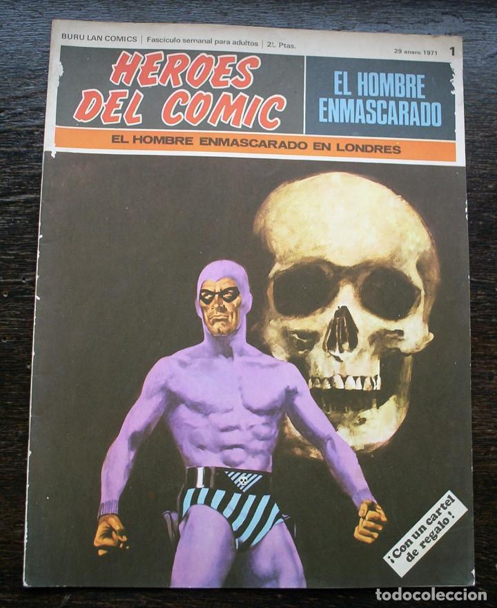 EL HOMBRE ENMASCARADO - FASCÍCULO 1: EL HOMBRE ENMASCARADO EN LONDRES - AÑO 1971 (Tebeos y Comics - Buru-Lan - Hombre Enmascarado)